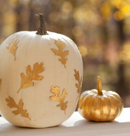 gold-leaf-pumpkin