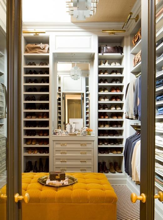 men walk in closet