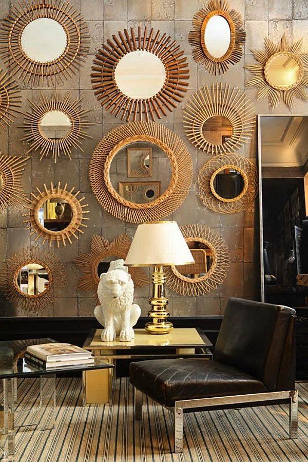 Gold Mirror Collage