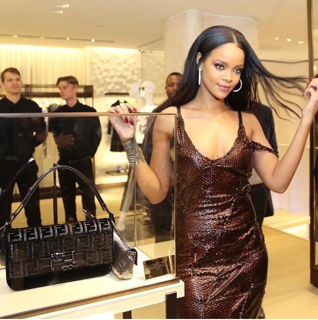 Rihanna at Fendi Flagship Store Opening 2015
